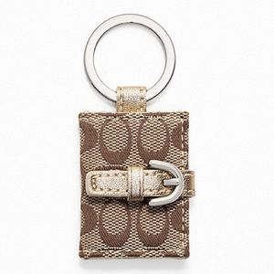Coach Signature Picture Frame Keychain